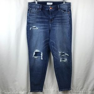 Lane Bryant Distressed Jeans with Stretch Size 14